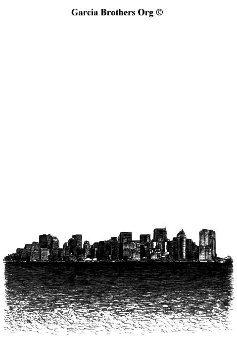 Manhattan From Liberty Island – By Garcia Brothers - 2012 ©