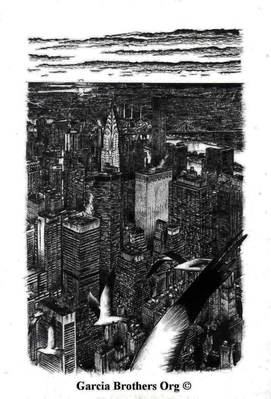 New York City From Empire State Building – By Garcia Brothers  – 2008 ©